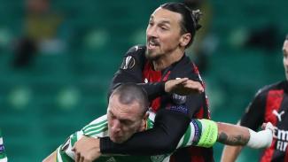 Pitingan Striker AC Milan, Zlatan Ibrahimovic ke leher kapten Glasgow Celtic