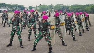 VIVA Militer: Pasukan gerak cepat PHH Marinir TNI.