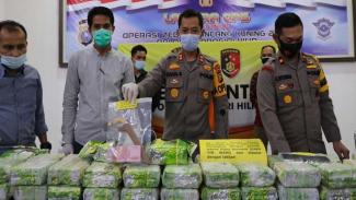50 Kilogram Sabu Ditemukan di Perkebunan Sawit Riau