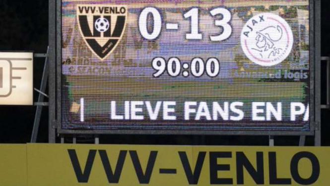 Ajax Amsterdam bantai VVV-Venlo 13-0.