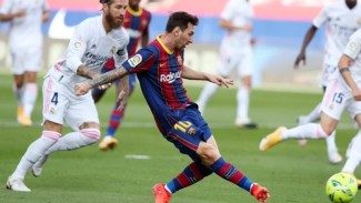Lionel Messi di laga Barcelona vs Real Madrid