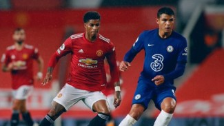 Duel  Thiago Silva dan penyerang MU, Marcus Rashford