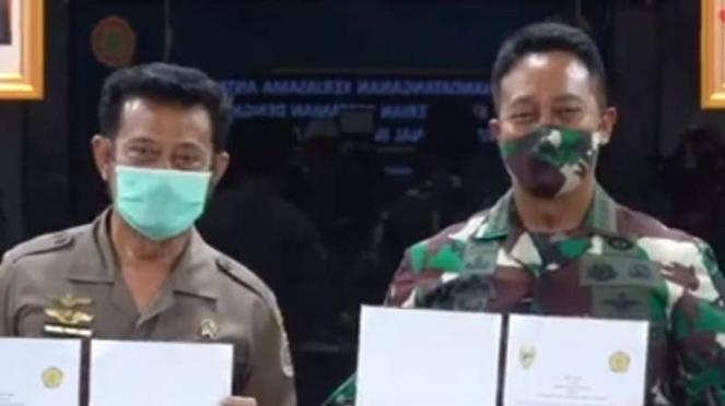 VIVA Militer : KSAD Jenderal TNI Andika tandatangani kerja sama dengan Mentan RI