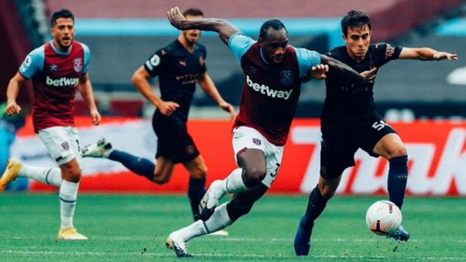 Pertandingan West Ham United vs Manchester City