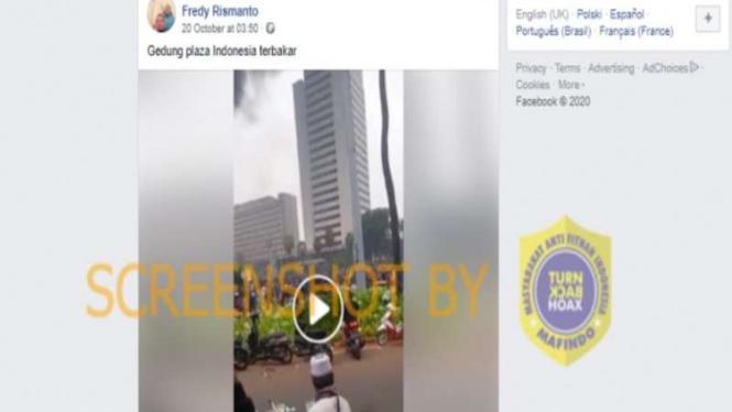 Hoax Gedung Plaza Indonesia terbakar