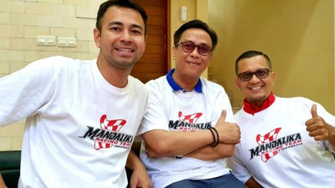 Raffi Ahmad ditunjuk sebagai duta Mandalika Team Racing Indonesia