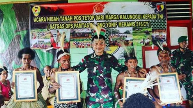 VIVA Militer; Warga serahkan 2 hektare tana ke prajurit Yonif Mekanis 516/CY.