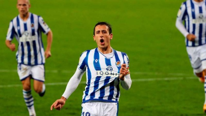 Winger Real Sociedad, Mikel Oyarzabal.