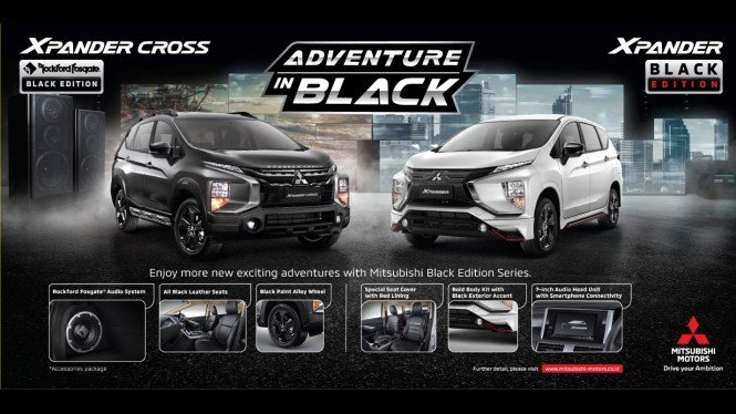 Mitsubishi Xpander Black Edition dan Xpander Cross Black Edition. (Dok. MMKSI)
