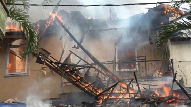 Kebakaran di belakang Senayan City