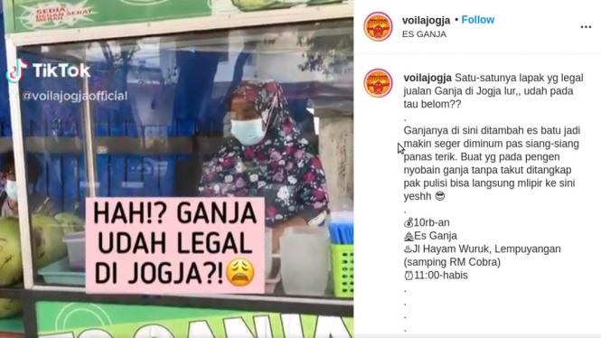 Viral Pedagang Jual Es Ganja di Yogyakarta Tapi Tak Ditangkap Polisi