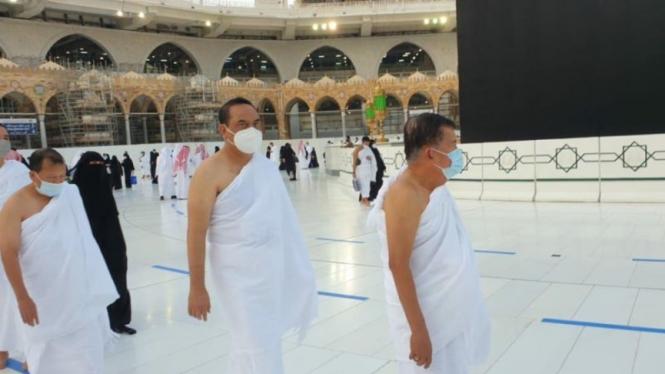 Jusuf Kalla Umrah di Masa Pandemi, Wajib Pakai Masker dan Jaga Jarak