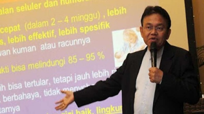 Anggota Komite Penasihat Ahli Imunisasi Nasional, Prof Dr Soedjatmiko Sp.A (K)
