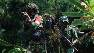 VIVA Militer: Pasukan Yonif 312/ Kala Hitam (Ilustrassi).