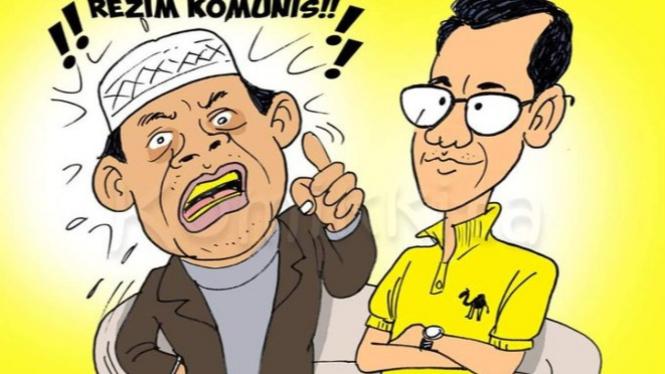 Ilustrasi Komik Gus Nur dan Refly Harun (TwitterKomikKitaTweet)