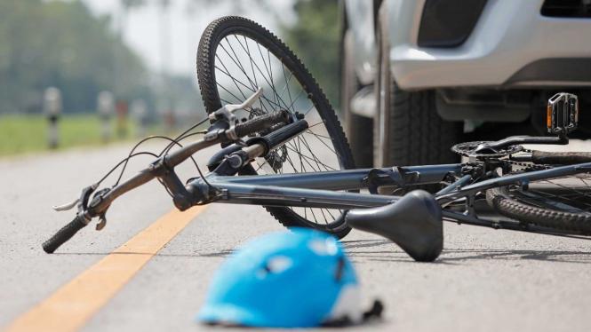 Ilustrasi kecelakaan sepeda