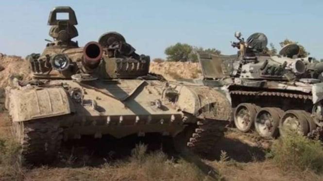 VIVA Militer: Tank militer Armenia terbengkalai di wilayah Azerbaijan