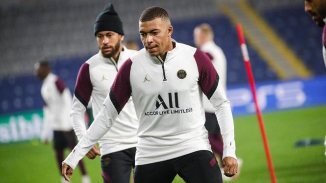 Pemain bintang PSG, Kylian Mbappe dan Neymar