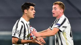 Striker Juventus, Alvaro Morata, marah-marah saat golnya dianulir