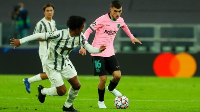Pedri di laga Juventus vs Barcelona