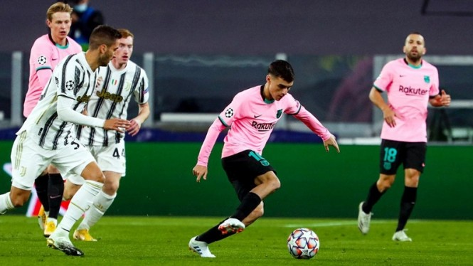 Pertandingan Juventus vs Barcelona di Allianz Stadium