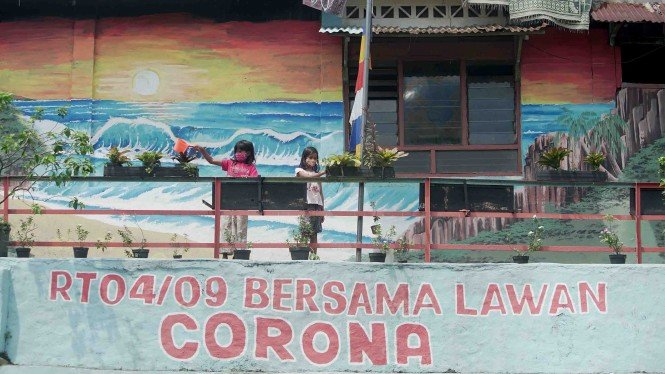 Mural Bersama Lawan COVID-19