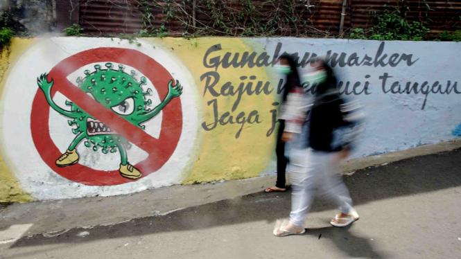 Mural Bersama Lawan Corona, COVID-19