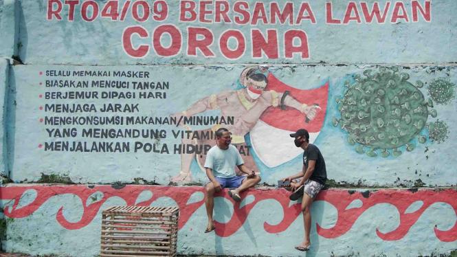 Mural Bersama Lawan COVID-19 (ilustrasi).