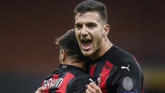 Brahim Diaz dan Diogo Dalot di laga AC Milan vs Sparta Praha
