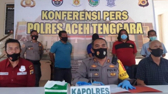 Kapolres Aceh Tenggara Ajun Komisaris Besar Polisi,Wanito Eko Sulistiyo.