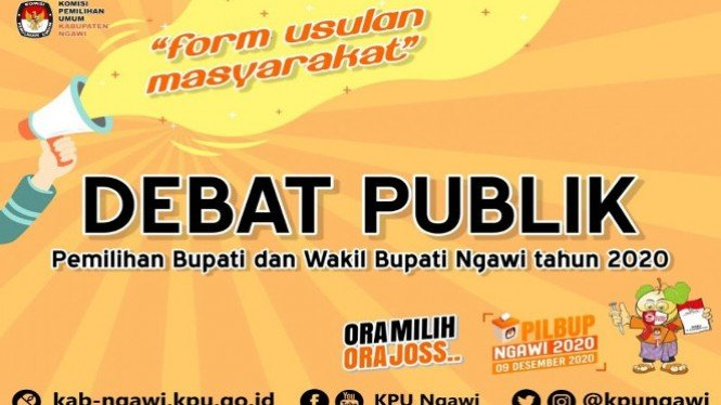 Debat Publik Pilkada Ngawi (antara)