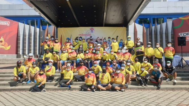 Acara Milenial Bersepeda di tengah pandemi virus corona COVID-19