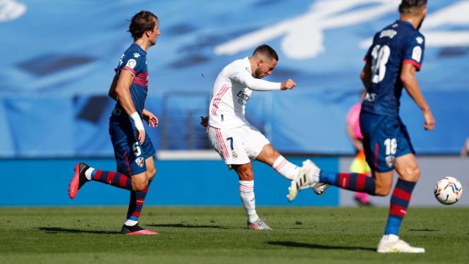 Eden Hazard akhirnya cetak gol lagi untuk Real Madrid