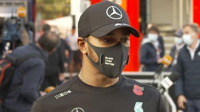 Pembalap Mercedes Formula 1, Lewis Hamilton.