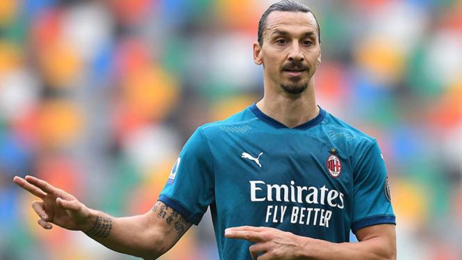 Striker AC Milan, Zlatan Ibrahimovic.