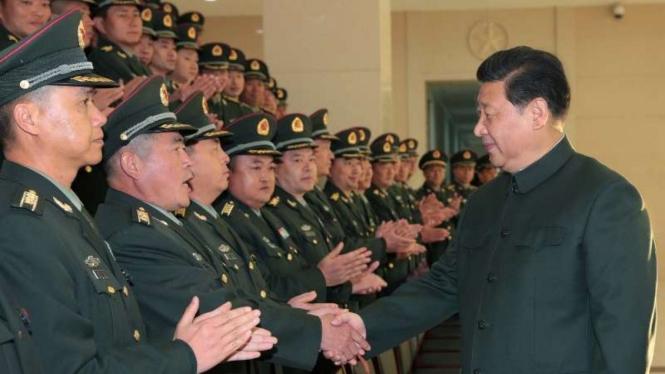 VIVA Militer: Presiden Xi Jinping bersama para perwira tinggi militer China
