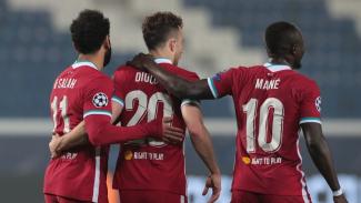 Trio Liverpool, Diogo Jota, Sadio Mane dan Mohamed Salah