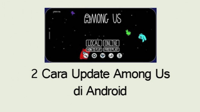 cara update among us android