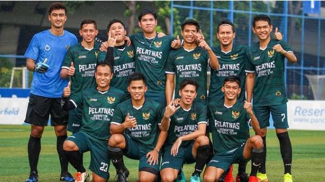 VIVA Bulutangkis: Tim sepakbola Pelatnas PBSI.