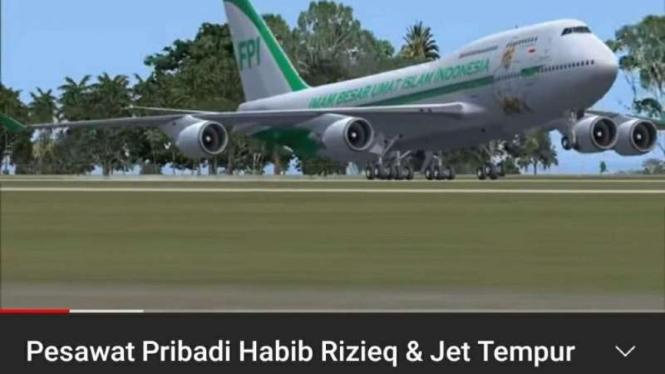 Hoax pesawat untuk Habib Rizieq hadiah dari Raja Salman.