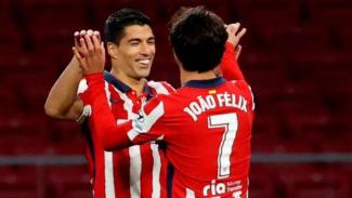 Striker Atletico Madrid, Luis Suarez dan Joao Felix.