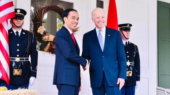 Presiden Jokowi saat bertemu dengan Joe Biden di AS pada 2015 lalu