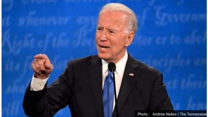 Joe Biden dalam sesi debat terakhir Pilpres AS 2020