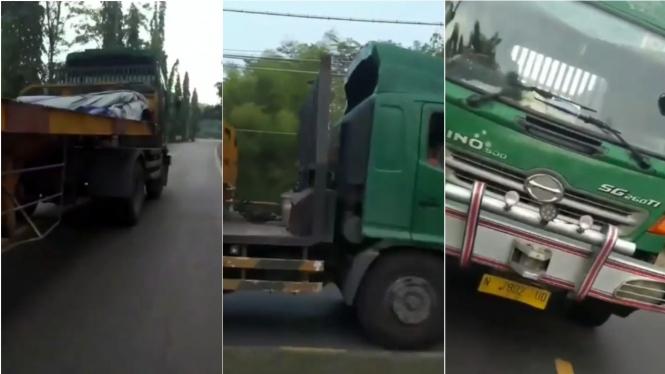 Pengendara motor diteror sopir truk
