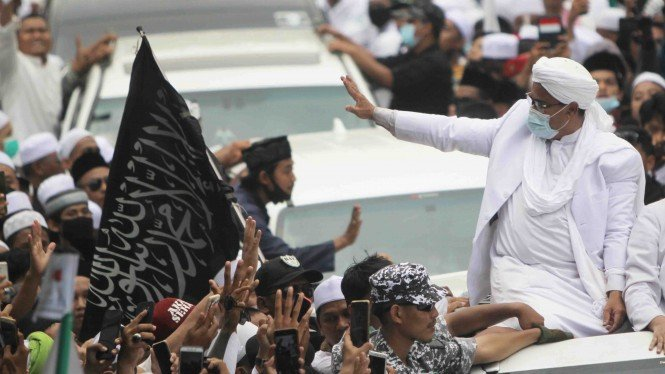 Habib Rizieq Shihab saat tiba di Petamburan 10 November 2020.