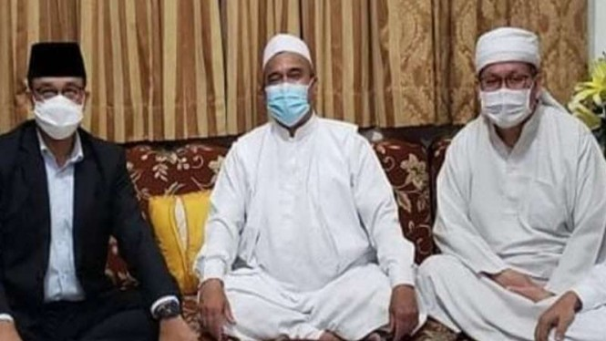 Gubernur DKI Anies Baswedan saat temui Habib Rizieq Shihab
