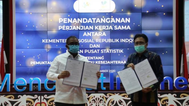 Penandatanganan PKS Kemensos dan BPS