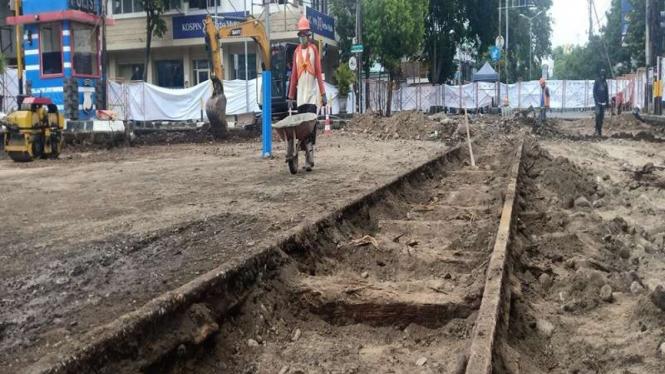 Penemuan jalur trem pada masa kolonial di Kota Malang (Foto Ilustrasi)
