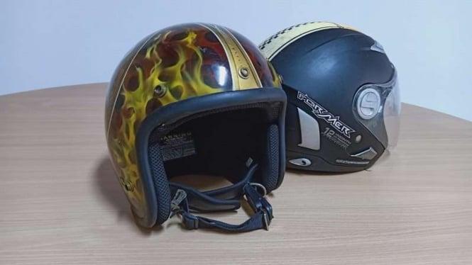 Ilustrasi helm tanpa kaca