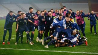 Timnas Skotlandia rayakan kelolosan ke Piala Eropa 2020